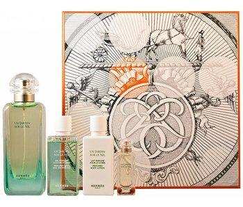 Hermes Hermes Un Jardin Sur Le Nil Great Gift Set 100 ml, 40 ml, and 40 mls Un Jardin Sur Le Nil 7.5 ml
