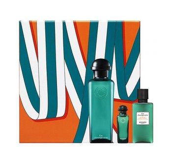 Hermes Eau D'Orange Verte Gift Set 100 ml, on Body and Hair 40 ml and 7,5 ml Shower Gel