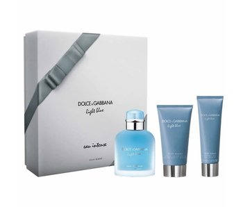 Dolce & Gabbana Light Blue Eau Intense Pour Homme Gift Set 100 ml, 50 ml and 75 ml