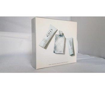 Burberry Brit Splash for Men Gift Set 100 ml, facial emulsion 75 ml and on Body and Hair 50 ml