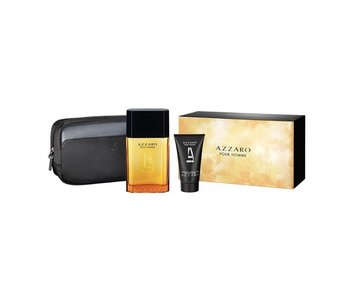 Azzaro Pour Homme Gift Set 100 ml, for Body and Hair Pour Homme 50 ml and Cosmetic Bag