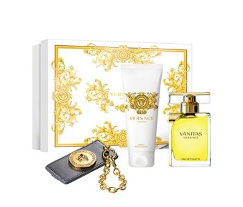 Versace Vanitas Gift Set 100 ml, Body Lotion Vanitas 100 ml a cestovní visa?ka