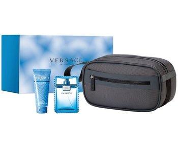 Versace Man Eau Fraiche Gift Set 100 ml , shower gel Man Eau Fraiche 100 ml and cosmetic bag