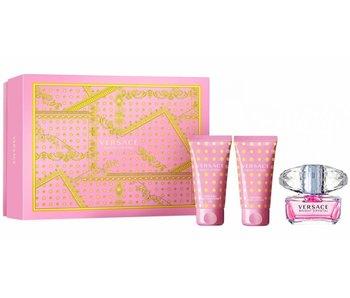 Versace Bright Crystal Gift Set edt spray 50ml bath & shower gel 50ml body lotion 50ml