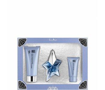 Thierry Mugler Angel Gift Set edp spray refillable 25ml body lotion 100ml shower gel 30ml