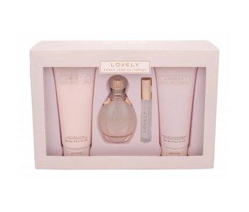 Sarah Jessica Parker Lovely Giftset 100 ml, Shower gel Lovely 200 ml, miniaturka Lovely 10 ml a Body Lotion Lovely 200 ml