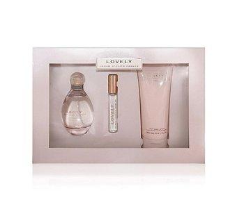 Sarah Jessica Parker Lovely Gift Set 100 ml, body lotion Lovely 200 ml and Mini'se Lovely 10 ml