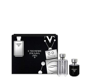 Prada L'Homme Gift Set Edt Spray 50Ml Shower Gel 100Ml