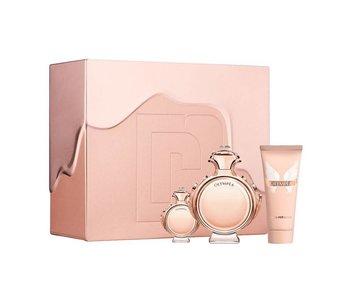 Paco Rabanne Olympea Gift Set edp spray 50ml body lotion 100ml mini 6ml