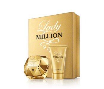 Paco Rabanne Lady Million Giftset Edp Spray 80ml Body Lotion 100ml