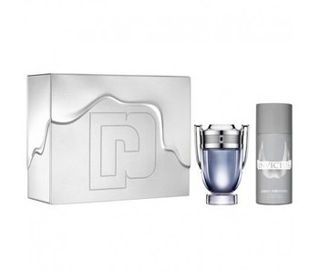 Paco Rabanne Invictus Gift Set EDT Spray 100 ml + Deo Spray 150 ml