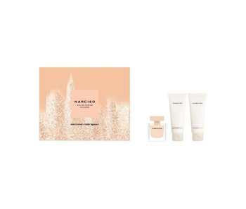 Narciso Rodriguez Poudree Gift Set Edp Spray 50ml Body Lotion 75ml Shower Cream 75ml