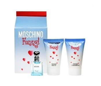 Moschino Funny mini gift set 4 ml , body lotion Funny 25 ml and Shower Gel 25 ml Funny