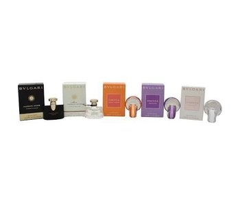 Mini's Bvlgari SET Jasmin Noir Edp 5Ml + Mon Jasmin Noir L'Eau Exquise Edt 5Ml + Omnia Indian Garnet Edt 5Ml + Omnia Amethyste Edt 5Ml + Omnia Crystalline Edt 5Ml