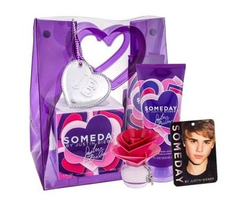 Justin Bieber Someday Giftset 30 ml, Body Lotion Someday 200 ml a osv?žova? místnosti