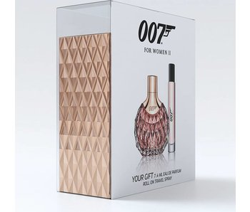 James Bond SET 007 For Woman Ii Edp 30Ml + Edp Rollerball 7,4Ml