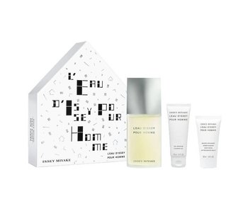 Issey Miyake L'Eau D'Issey pour Homme Gift Set EDT Spray 125 ml + Shower Gel 75ml + After Shave Balm 50 ml