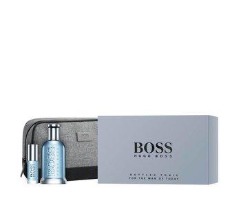 Hugo Boss Boss Bottled Tonic Gift Set 100 ml, Miniature Boss Bottled Tonic 8 ml and Cosmetic Bag