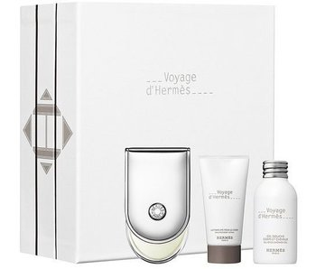 Hermes Voyage Gift Set 100 ml shower gel 30 ml Voyage and Voyage Body Lotion 30 ml