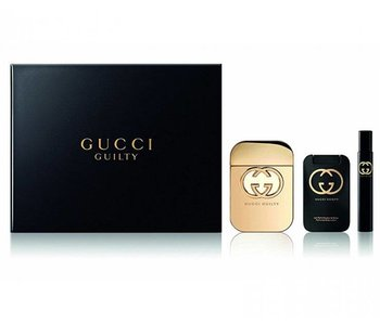 Gucci Guilty Great gift set 75 ml , shower gel 100 ml Guilty Guilty miniatures and 7.4 ml