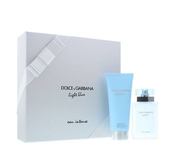 Dolce & Gabbana Light Blue Eau Intense Giftset 50 ml a t?lový krém Light Blue Eau Intense 100 ml