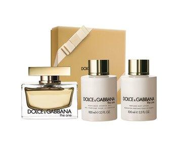 Dolce & Gabbana The One For Women Giftset edp spray 75ml body lotion 100ml shower gel 100ml