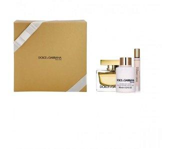Dolce & Gabbana The One For Women Giftset Edp Spray 75 ml Body Lotion 100 ml Mini Edp Spray 7.4 ml