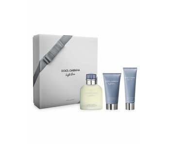 Dolce & Gabbana Light Blue Pour Homme Giftset Edt Spray 125ml After Shave Balm 75ml Shower Gel 75ml