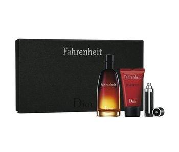 Dior Fahrenheit Gift set 100 ml, shower gel Fahrenheit 50 ml a miniature Fahrenheit 3 ml