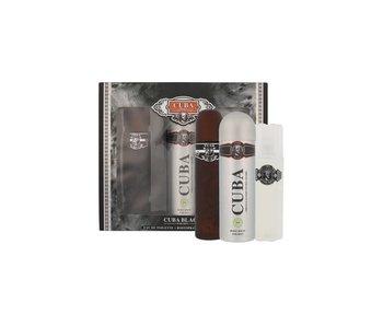 Cuba Cuba Black Gift Set 100 ml , After Shave Cuba Black 100 ml and deospray Cuba Black 200 ml