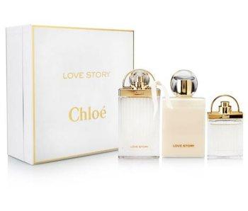 Chloe Love Story Gift Set 75 ml, body lotion 100 ml Love Story Love Story and miniatures 7.5 ml