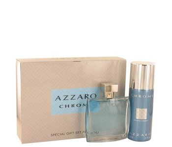 Azzaro Chrome Gift Set EDT 100 ml and 150 ml deospray Chrome