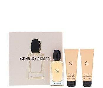 Armani Gift Set 100 ml, body lotion Sí 75 ml and shower gel Sí 75 ml