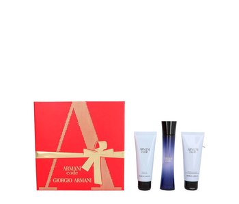 Armani Code Pour Femme Giftset Edp Spray 50ml Shower Gel 75ml Body Lotion 75ml