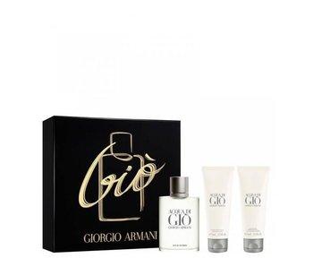 Armani Acqua di Gio Man Gift Set 100 ml, after shave balm Acqua di Gio 75 ml and shower gel Acqua di Gio 75 ml