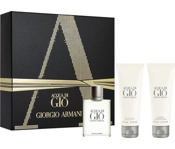 Armani Acqua di Gio Homme Giftset Edt Spray 50ml Shower Gel 75ml After Shave Balm 75ml