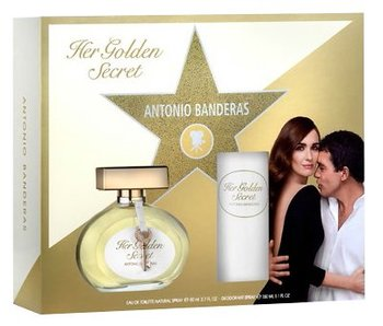 Antonio Banderas Her Golden Secret Giftset 80 ml a deospray Her Golden Secret 150 ml