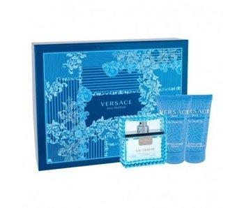 Versace Man Eau Fraiche Gift Set EDT 50 ml shower gel Man Eau Fraiche 50 ml After Shave Balm Man Eau Fraiche 50 ml