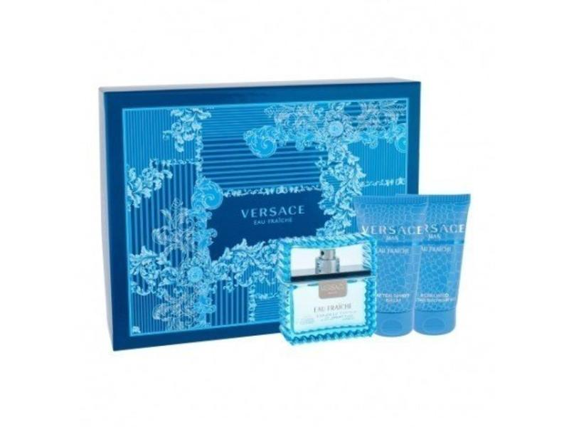 Versace Man Eau Fraiche Gift Set EDT 50 ml shower gel Man Eau Fraiche 50 ml After Shave Balm Man Eau Fraiche 50 ml