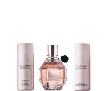 Viktor & Rolf Viktor & Rolf Flowerbomb Gift Set, San Valentino - EDP 5ml + Gel douche 5 ml + Bodycreme 4ml