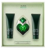 Thierry Mugler Aura Gift Set, Edp Spray 3ml/Body Lotion 5ml/Shower Gel 5ml