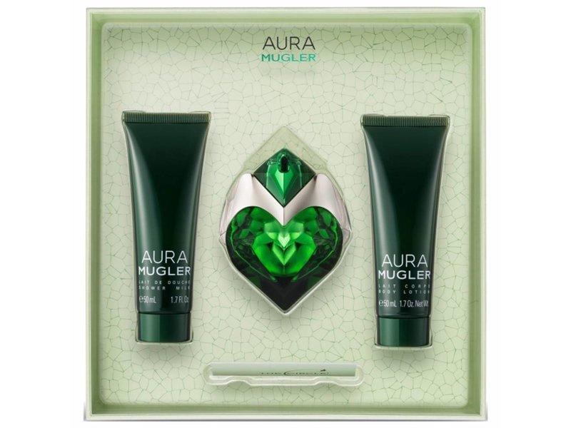 Thierry Mugler Aura Giftset, Edp Spray 3ml/Body Lotion 5ml/Shower Gel 5ml