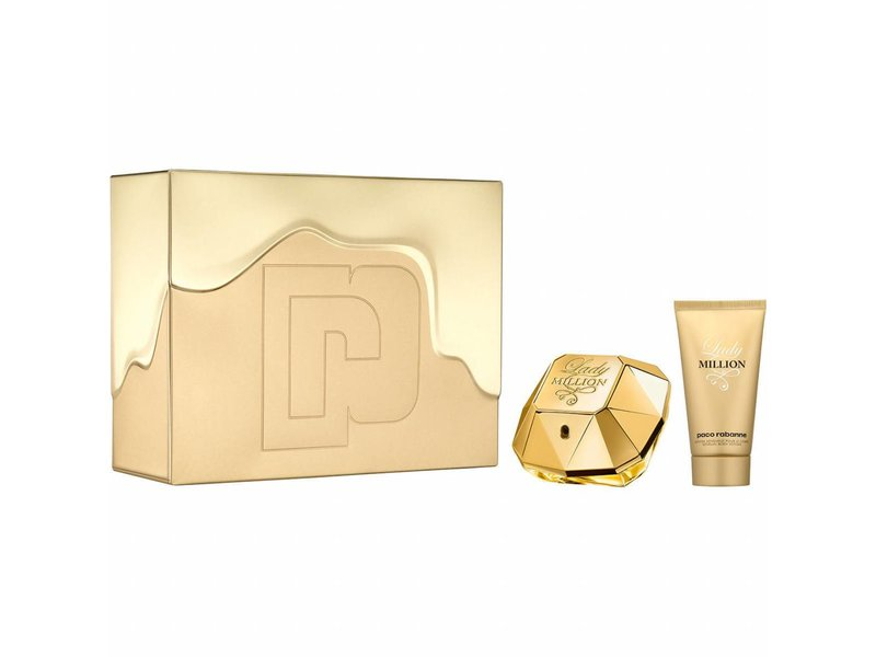 Paco Rabanne Lady Million Giftset, Edp Spray 5ml/Body Lotion 75ml