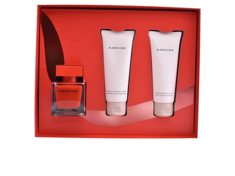 Narciso Rodriguez Narciso Rouge Giftset, Edp Spray 5ml/Body Lotion 75ml/Shower Gel 75ml