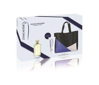 Lancaster Eau de Lancaster Gift Set, Edt Spray 125ml/Body Milk 2ml/Handbag