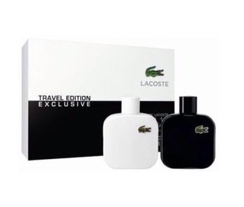 Lacoste Travel Edition L.12.12 Blanc Noir Gift Set, Blanc Edt Spray 5Ml / Noir Edt Spray 5 Ml