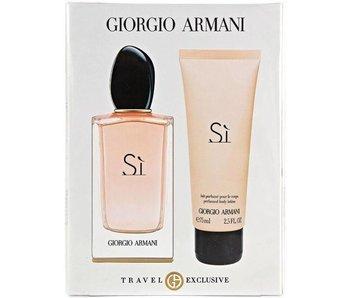 Giorgio Armani Si Gift Set, Travel Set Edp Spray 5ml + Body Lotion 75ml