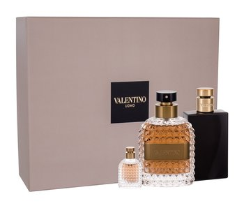 Valentino Uomo EDT Gift Set 100 ml After Shave Balsam (After Shave Balm) 100 ml Uomo a Uomo Mini'ses EDT 4 ml