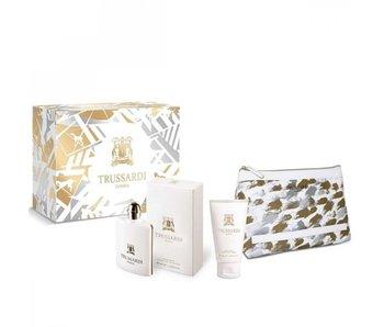 Trussardi Parfums Donna EDP 100 ml, t?lové mléko Donna 100 ml a kosmetická taška