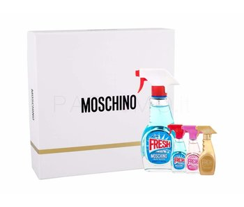 Moschino Fresh Couture EDT 50 ml, miniaturka Fresh Couture EDT 5 ml, miniaturka Fresh Couture Pink EDT 5 ml a miniaturka Fresh Couture Gold EDP 5